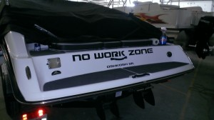 No Work Zone Boat Decals