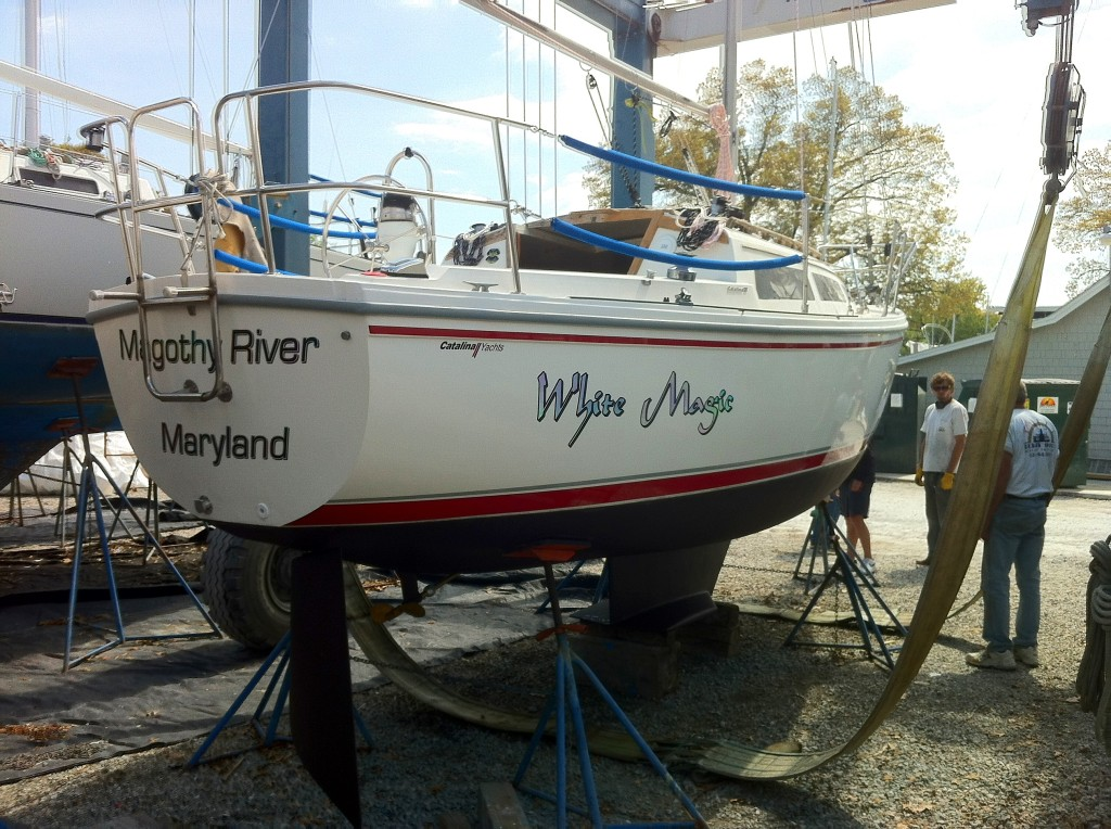 White Magic Boat Decal